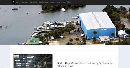Cedar Key Marina's home page